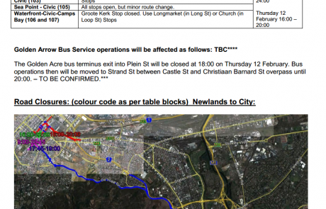 Cape Town Road Closures State of the Nation3