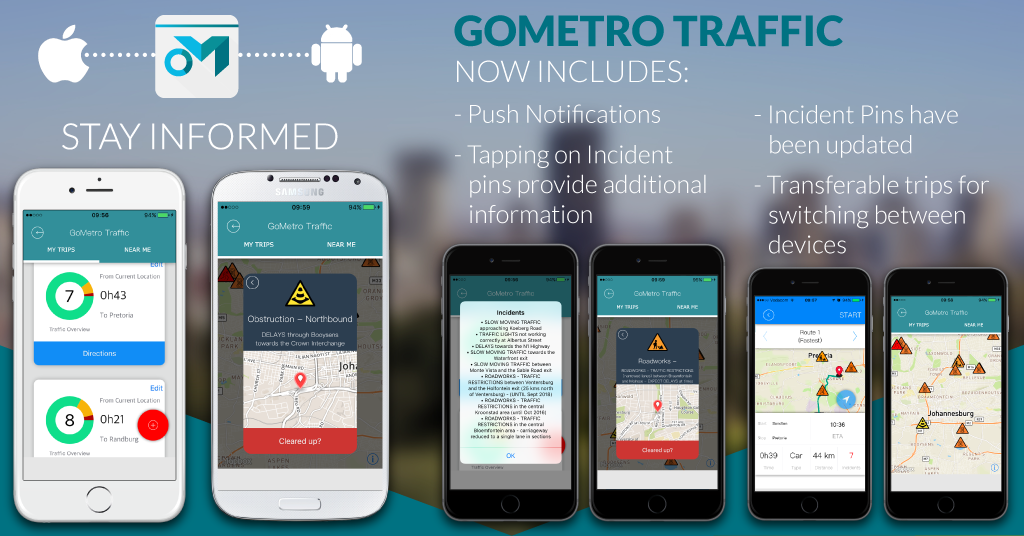 We've updated GoMetro Traffic on iOS and Android