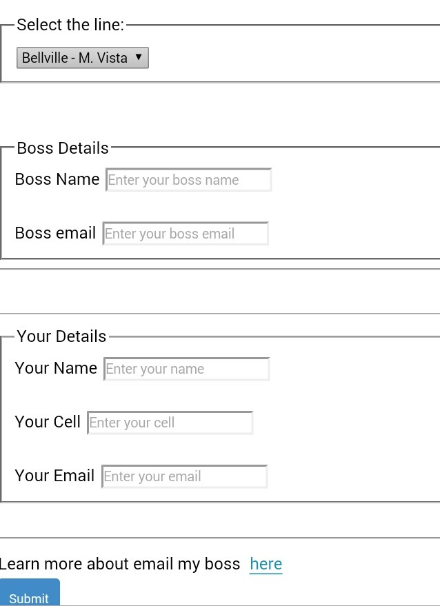 Using Email-your-Boss option